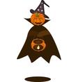 A happy halloween pumpkin with pumpkin basket vector