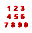 Collection of numbers isolated on white background vector