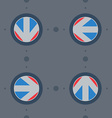 Seamless pattern with flat arrows with gear vector