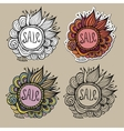 Set of sale nature labels vector