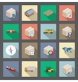 Transportation and delivery flat icons set vector