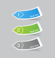 Sticker label paper colorful set vector