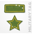 Military tags vector