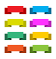Colorful set of 8 banners vector