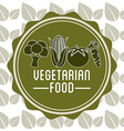 Vegetarian food menu vector