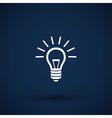 Light bulb icon lamp vector