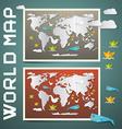 World maps - paper set vector