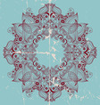Ornamental round lace card vector