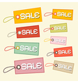 Retro paper sale tags labels vector