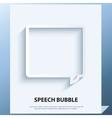 Speech bubble icon vector