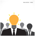 Creative light bulb with human head symbol vector