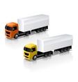 Trucks icons set vector