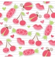 Cute pink seamless pattern vector