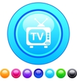 Tv circle button vector