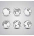 Set of globes world map vector