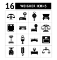Set icons of weights and scales vector