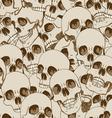 Human skulls seamless background vector