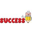 Cartoon success pencil school vector
