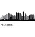Philadelphia city skyline detailed silhouette vector