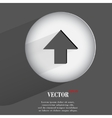 Up arrow flat modern web button with long shadow vector