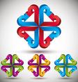 3d arrow abstract icon vector
