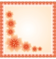Floral pattern fine greeting card eps10 vector
