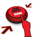 Save money now button vector