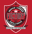 Vintage americana style victory label vector