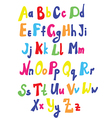 Funny font for kids vector