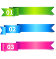 Set of ribbon sticker or label with number vector
