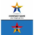 Abstract number 1 logo symbol with star icon vector