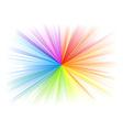 Rainbow rays on the white vector