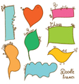 Cute hand drawn frames vector