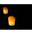 Sky lanterns vector