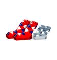 Icon socks vector