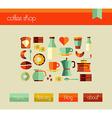 Coffee shop web design template set vector
