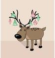 Merry christmas funny reindeer vector