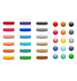 Set of colored web buttons vector