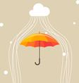 Umbrella and cloud vector