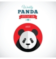 Weekly panda cute flat animal icon - angry vector