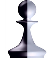 Black and white chess figure a pawn vector