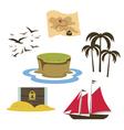 Treasure island game elements vector