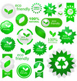 Eco friendly elements vector