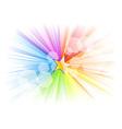 Rainbow rays with gold star vector