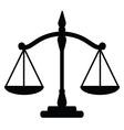 Justice scales vector