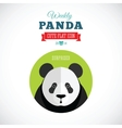 Weekly panda cute flat animal icon - surprised vector