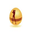 Girl on the egg vector