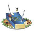 Diet book vector