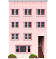 A tall pink building vector