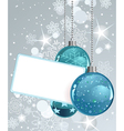 White blank label with christmas balls vector